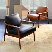 west elm leather chair west elm leather chair reviews