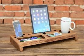 desk storage accessories wooden desk organizer office organizer phone station solid wood holder desk accessories office