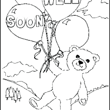Free Get Well Coloring Pages Free Get Well Coloring Pages Get Well