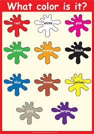 Basic Color Chart For Kids Learning Colors Chart Laminated Classroom Poster For