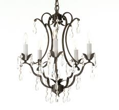 chandeliers iron and crystal chandelier wrought iron and crystal white 4 light chandelier pendant iron