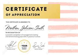 Certificate Of Appreciation Text Certificate Of Appreciation Template Design Elegant Business