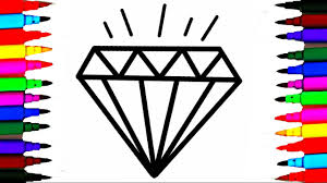Small Picture Crystals Jems Diamond Coloring Pages l How To Draw and Color