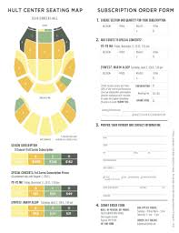 Hult Center Mezzanine Seating Chart Fillable Online Eugenesymphony Subscription Order Form Hult