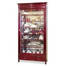 Glass Curio Cabinets With Lights Rosewood Grand Curio Cabinet Traditional Beautiful And Shelves