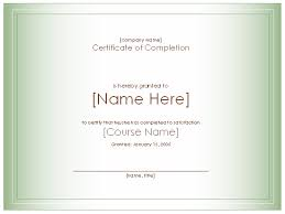 free training completion certificate templates certificates office com