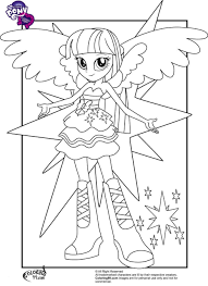 My Little Pony Girls Coloring Pages Motivate Equestria Awesome