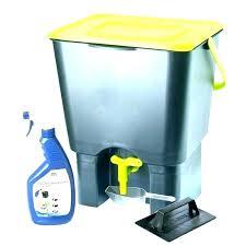 compost container kitchen stainless steel compost bins kitchen composting trademark innovations stainless steel 1 gallon compost