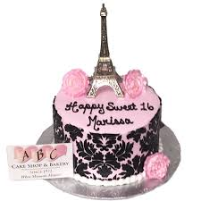 2020 Sweet 16 Paris Eiffel Tower Birthday Cake Abc Cake Shop