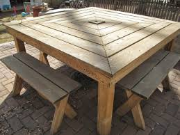 wooden outdoor table plans. Diy Wood Outdoor Furniture Landscaping Gardening Ideas Homemade Patio Table Plans With Umbrella Build Sport Wholehousefans Co Garden Bench Seat Design Wooden