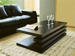 modern coffee table set with glass top