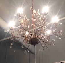 newest d74cm nordico k9 retro branches crystal chandelier 6 lights bedroom in crystal branch chandelier