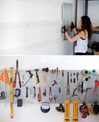 bhg has this great tool storage idea for the garage use magnetic strips similar to the kind you might use in the kitchen to knives