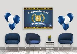 Design Your Own Office Amazing Custom Officer Banner Congratulations Officer Police Etsy