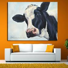 home decor wall art cow painting cow molly moo low oil painting for living room modern on home decor wall art painting with home decor wall art cow painting cow molly moo low oil painting for