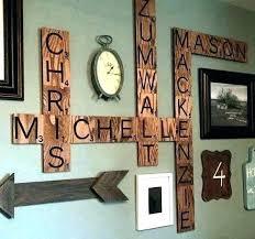 initial letter wall decor letters en metal decoration ideas facile then