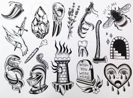 Tattoo Flash By Lindsey Morehead At Donovans Autumn Moon Tattoo