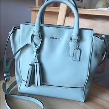 Coach Legacy Leather Mini Tanner Bag in Mint