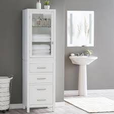 Bathroom Fascinating White Free Standing Bathroom Storage Tower