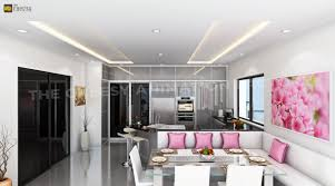 Interior Designs For Kitchen And Living Room 3d Home Interior Design Office Interior Kitchen Rendering