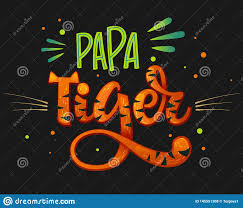Papa Design Papa Tiger Color Hand Draw Calligraphy Script Lettering