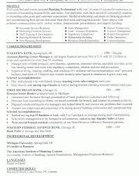 Simple Decoration Banking Resume Sample Banking Executive Resume