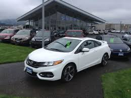 honda civic 2014 white. Interesting 2014 Used 2014 Honda Civic Si Coupe In Eugene OR Throughout White