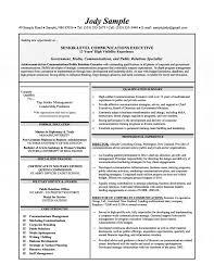 Executive Resume Senior Level Communications Pr Summary Sample
