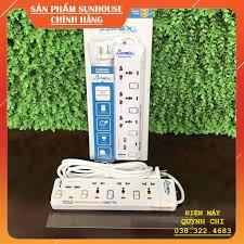 Ổ cắm điện Apex APE OC2-3RU - 2 cổng USB, 3 Lỗ, 4 công tắc, 2500W, dây dài  2.5m - [Chính hãng Sunhouse] tại Hà Nội