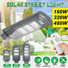 480W <b>48000LM</b> LED Wall Street <b>Light</b> Solar Panel Motion Sensor ...