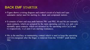 active learning assignment topic dc motor starters back emf starter  figure shows a wiring diagram and control circuit of a back emf