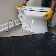removing old toilet bowl
