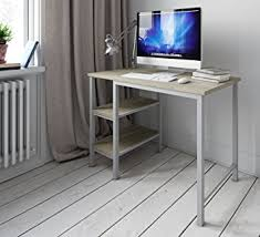 office desk shelf. desk shelf unit computer pc table study for home office furniture workstation white oak amazoncouk products 6