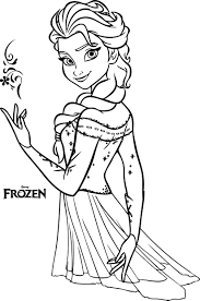 Small Picture Beautiful Elsa Coloring Pages Wecoloringpage