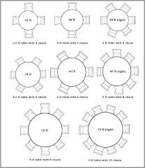 round table seating size what size round table do you need to seat 6 designs rectangle round table seating size