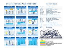 Image Of 2020 Calendar 2019 2020 Calendar Greenwood Christian Academy