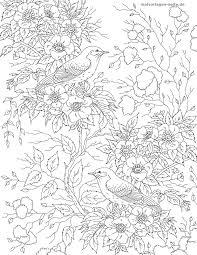 ぬいぐるみの大人 花と鳥 無料の着色ページをダウンロード