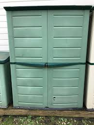 outdoor plastic garden shed box storage unit