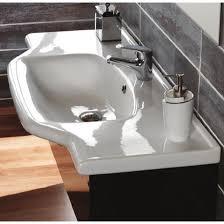 31 6 bathroom sink cerastyle 081200 u rectangular white ceramic wall mounted or