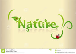Word Of Nature Nature Word Art Stock Vector Illustration Of Natural 15307001