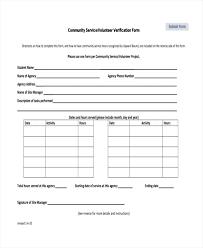 Volunteer Verification Form Template Xtech Me