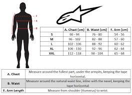 Alpinestars Leather Suit Size Chart Alpinestars Bionic Plus Protection Jacket