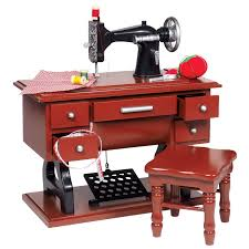 1930 Style American Sewing Machine Set for 18 inch Girl Doll