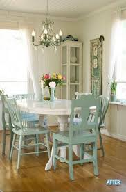white furniture shabby chic. Inviting Shabby Chic Dining Room In White And Green Furniture