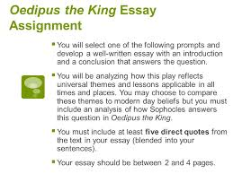 oedipus the king essay assignment western literature  4 oedipus the king essay