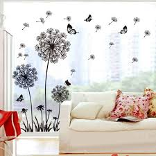3cworld dandelion and butterflies self adhesive wall decals stickers for diy mural art merry christmas gift dandelion black amazon  on home decorating stick on wall art with 3cworld dandelion and butterflies self adhesive wall decals stickers