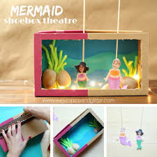 materials to make a mermaid puppet theatre