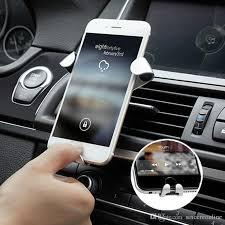 Car Decoration Accessories India Simple Gravity Reaction Car Mobile Phone Holder Clip Type Air Vent Monut