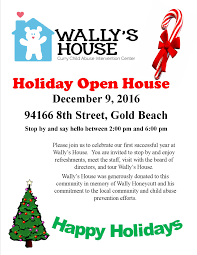 christmas open house flyer holiday open house wallys house