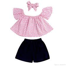 Designer Newborn Baby Girl Clothes 2019 2019 Kds Designer Clothes Newborn Baby Girls Clothes Sets Sleeveless Tops Vest Shorts Headband Casual Summer Outfits Set Baby Girl 0 36m From